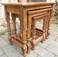Nest of Three Beech Coffee Tables